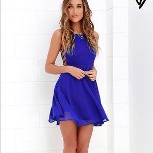 Brand new blue Lulus dress